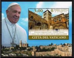 8.- VATICANO CITY 2015. MINIATURE SHEET. TRAVELS OF POPE FRANCIS - Vatican