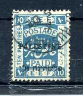 1922-28 PALESTINA YV N.61 USATO - Palestina