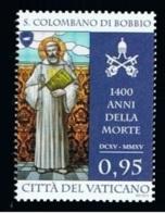 14.- VATICAN CITY VATICANO 2015 1400 ANNIVERSARY OF DEATH SAINT COLOMBANO DI BOBBIO - Vatican