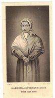 SAINTE BERNADETTE SOUBIROUS PRIEZ POUR NOUS : IMAGE PIEUSE HOLY CARD SANTINI - Imágenes Religiosas