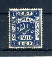 1920-21 PALESTINA YV N.20 I USATO - Palestina