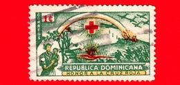 REPUBBLICA DOMENICANA - Usato - 1944 - 80° Anniversario Della Croce Rossa Internazionale - Battlefield And Nurse - 1 - Repubblica Domenicana