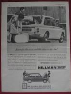 ORIGINAL 1965  MAGAZINE ADVERT FOR  HILLMAN IMP MOTOR CAR - Advertising