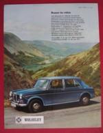 ORIGINAL 1969  MAGAZINE ADVERT FOR  WOLSELEY 1300 MK.11  MOTOR CAR - Other