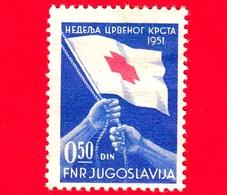 Nuovo - MNH - JUGOSLAVIA - 1951 - Croce Rossa - Red Cross - Bandiera - 0.50 - 1945-1992 Repubblica Socialista Federale Di Jugoslavia