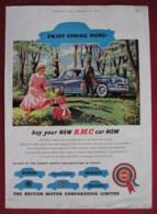 ORIGINAL 1958  MAGAZINE ADVERT FOR  BRITISH MOTOR CORPORATION LTD - Advertising