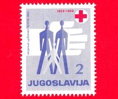 Nuovo - ML - JUGOSLAVIA - 1959 - 100 Anni Della Croce Rossa - Red Cross - Persone Stilizzate - 2 - 1945-1992 Repubblica Socialista Federale Di Jugoslavia