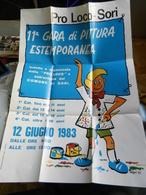 6c) MANIFESTO SORI PRO LOCO 11^ GARA DI PITTURA ASTEMPORANEA 1983 49,5 X 70 Cm - Manifesti