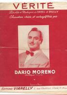 Vérité - Dario Moreno ( Varel Et Bailly), 1954 - Música & Instrumentos