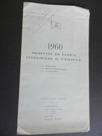 6c)  TYPALDOS LINES TRASPORTI MARITTIMI TRAGHETTI GRECIA PIREO ITINERARI E TARIFFE 1960 14,5 X 26 Cm CHIUSO - Boats