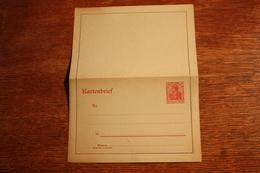 ( 2654 ) Ganzsachen  Deutsches Reich  Kartenbrief K 21  *-  Erhaltung Siehe Bild - Stamped Stationery