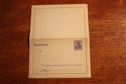 ( 2656 ) Ganzsachen  Deutsches Reich  Kartenbrief K 18 B  *-  Erhaltung Siehe Bild - Stamped Stationery