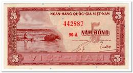 SOUTH VIET NAM,,5 DONG,1955,P.13,AU-UNC - Vietnam
