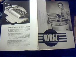 Publicitè Tract Machine A Laver Et A Rrpasser  Norge Annèe 50 - Publicités