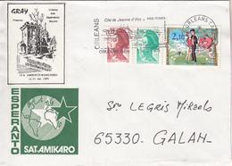 ESPERANTO  -  Lettre De ORLEAN Vers GALAN (France) - Esperanto