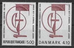 Emission Commune Robert Jacobsen - France - Danmark - France YT N° 2551 Danemark YT N° 931 - Emissions Communes