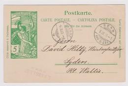 SUISSE 1900 : Entier UPU De Berne Pour Sierre - 1882-1906 Wapenschilden, Staande Helvetia & UPU
