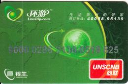 CHINA - UnuTrip, UNSCNB, Used - Geldkarten (Ablauf Min. 10 Jahre)