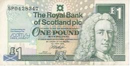 BILLETE DE ESCOCIA DE 1 POUND DEL AÑO 1999  (BANKNOTE) CONMEMORATIVO SCOTTISH PARLAMENT - 1 Pound