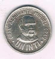 UN  INTI 1987 PERU /3215/ - Peru