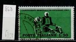 Italie - Italy - Italien 1962 Y&T N°868 - Michel N°1126 (o) - 30l Cyclisme Demi Fond - 1946-.. République