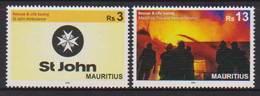 MAURITIUS , 2018, MNH, RESCUE SERVICES, FIREMEN, MAURITIUS FIRE AND RESCUE SERVICE,  2v - Firemen