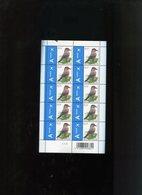 Belgie Buzin Vogels Birds Nr 3750 0.15€ CREME PAPIER Zwart Driehoekje Bovenaan RR MNH Plaatnummer 2 - 1985-.. Birds (Buzin)