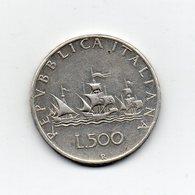 """ITALIA - 1960 - 500 Lire """"Caravelle"""" - Argento 835 - Peso 11 Grammi - (MW2150) - 1946-… : Repubblica"""