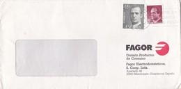 FAGOR. DIVISION PRODUCTOS DE CONSUMO-COMMERCIAL ENVELOPE 2003 BANDELETA PARLANTE - BLEUP - 1981-90 Cartas