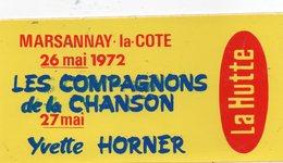 Autocollant YVETTE HORNER/COMPAGNONS DE LA CHANSON - Aufkleber