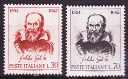 Italie - Italy - Italien 1964 Y&T N°901 à 902 - Michel N°1157 à 1158 *** - Galilée - 6. 1946-.. Republik
