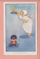 OLD POSTCARD  -  ARTIST SIGNED - AGNES RICHARDSON - CHILDREN - MR. GOLLIWOG GOOD NIGHT - Illustrators & Photographers