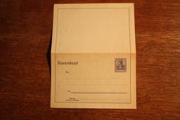 ( 2664 ) Ganzsachen  Deutsches Reich  Kartenbrief K 18 A  * -  Erhaltung Siehe Bild - Stamped Stationery