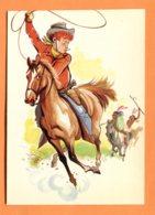 FR615, Cow-Boys, GF, Non Circulée - Cavalli