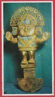 Art Chimu, Couteau Sacrificiel En Or. Pérou. Encyclopédie De 1970. - Autres