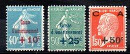 FRANCE - YT N° 246 à 248 - Neufs ** - Cote: 70,00 € - Francia