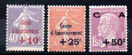 FRANCE - YT N° 249 à 251 - Neufs ** - MNH  - Cote: 235,00 € - Neufs