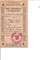 Guerre 40/45 -Alimentation ( Carte D'alimentation De 1940 à Voir) - 2. Weltkrieg