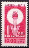 Brazil MNH Stamp On Marblized Paper! - Brazil