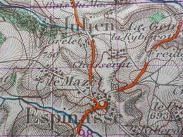 Carte 1 /50 000° IGN - St GERVAIS D'Auvergne édition 1959 ( Les Ancizes,Gouttières, Bussières, Espinasse, Dontreix - Cartes Topographiques