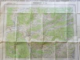 Carte 1 /25 000° IGN REMIREMONT N°3-4 (dont Vagney, Rochesson, Chermenil, Julienrupt, Cleurie - Cartes Topographiques