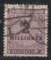 DR 315 AWa, Gestempelt, Geprüft, Rosettenmuster 1923 - Infla