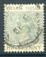 Grenada 1883 QV - ½d Dull Green Used (SG 30) - Grenada (...-1974)