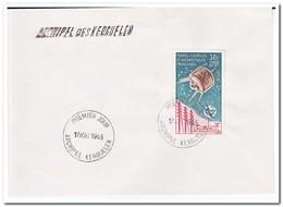 Frans Antarctica 1965, FDC, 100 Years ITU - FDC