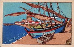 93Maj   Illustrateur Barques De Pécheurs Aux Saintes Maries De La Mer - Illustrateurs & Photographes