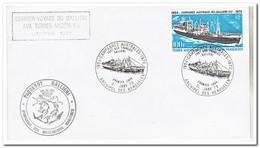 Frans Antarctica 1973, FDC, Ship - FDC