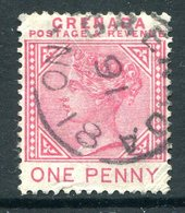 Grenada 1887 QV - 1d Carmine Used (SG 40) - Grenada (...-1974)