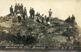 Cpa Carte Photo Souvenir Du Vieil Armand (68) - France