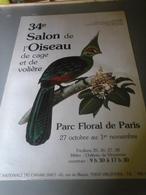 Affiches - Parc Floral De Paris 34° Salon De L'Oiseau - Affiches & Posters