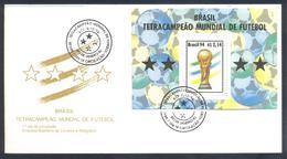 Brazil Brasil 1994 Cover: Fussball Football Soccer: FIFA World Cup 1994 Mundial Weltmeisterschaft Brazil World Champion - Coppa Del Mondo